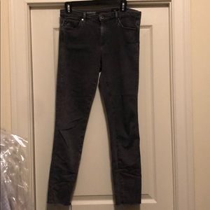 AG gray jeans.